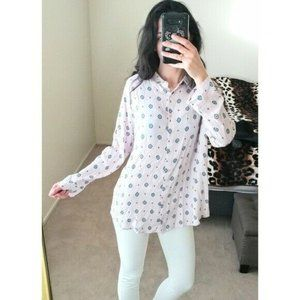Intimately Free People Lilac Oversized Button Up S